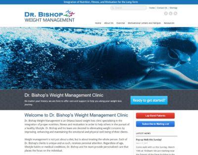Portfolio Image of Dr. Bishop's Website