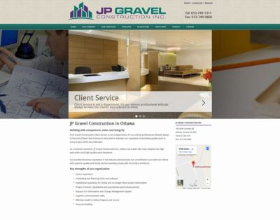 Portfolio Image of JP Gravel Construction Website