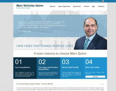 Portfolio Image of Ottawa Injury Law Firm Website