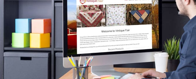 Featured Image for eCommerce Website Vintique Flair