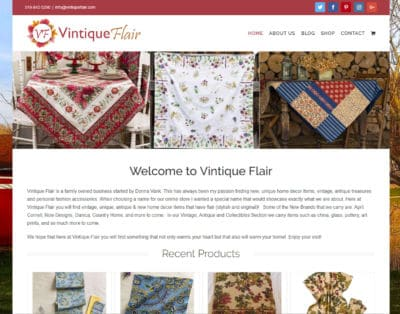 Portfolio Image of Vintique Flair Website
